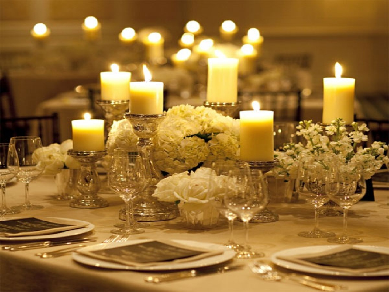 wedding centerpieces no flowers photo - 1