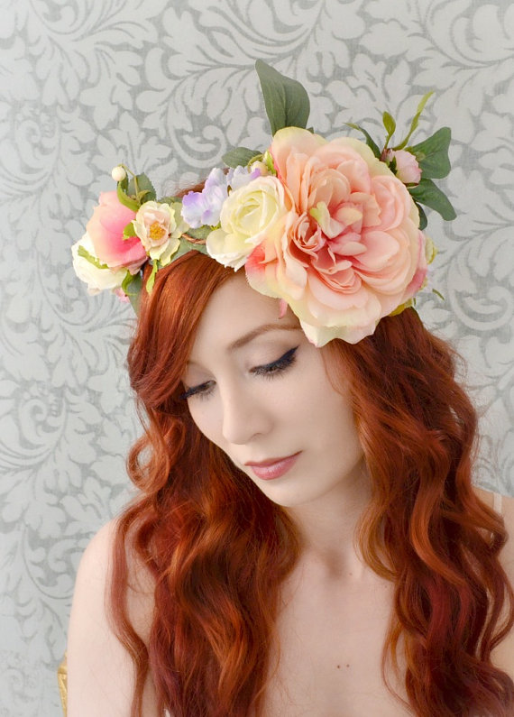 wedding flower crown photo - 1