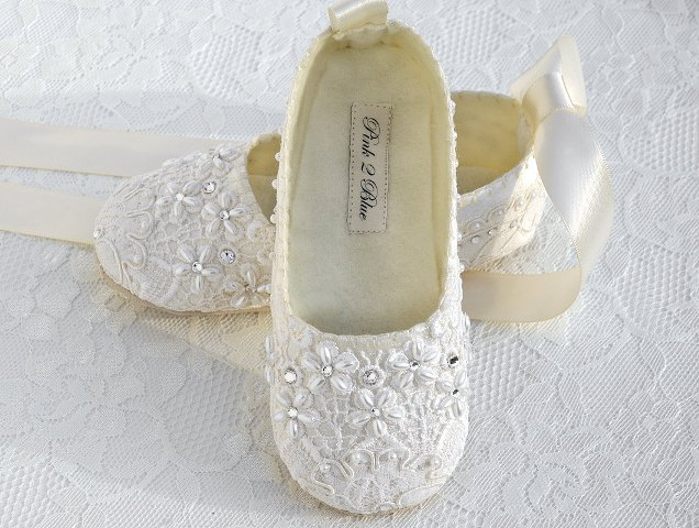 wedding flower girl shoes photo - 1