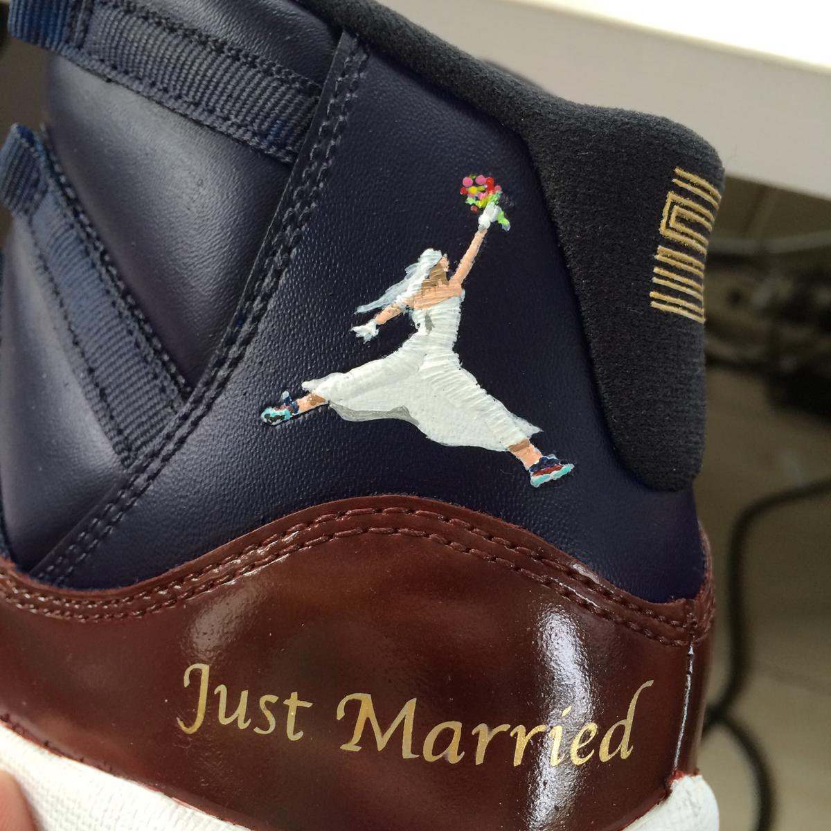 wedding jordans shoes photo - 1