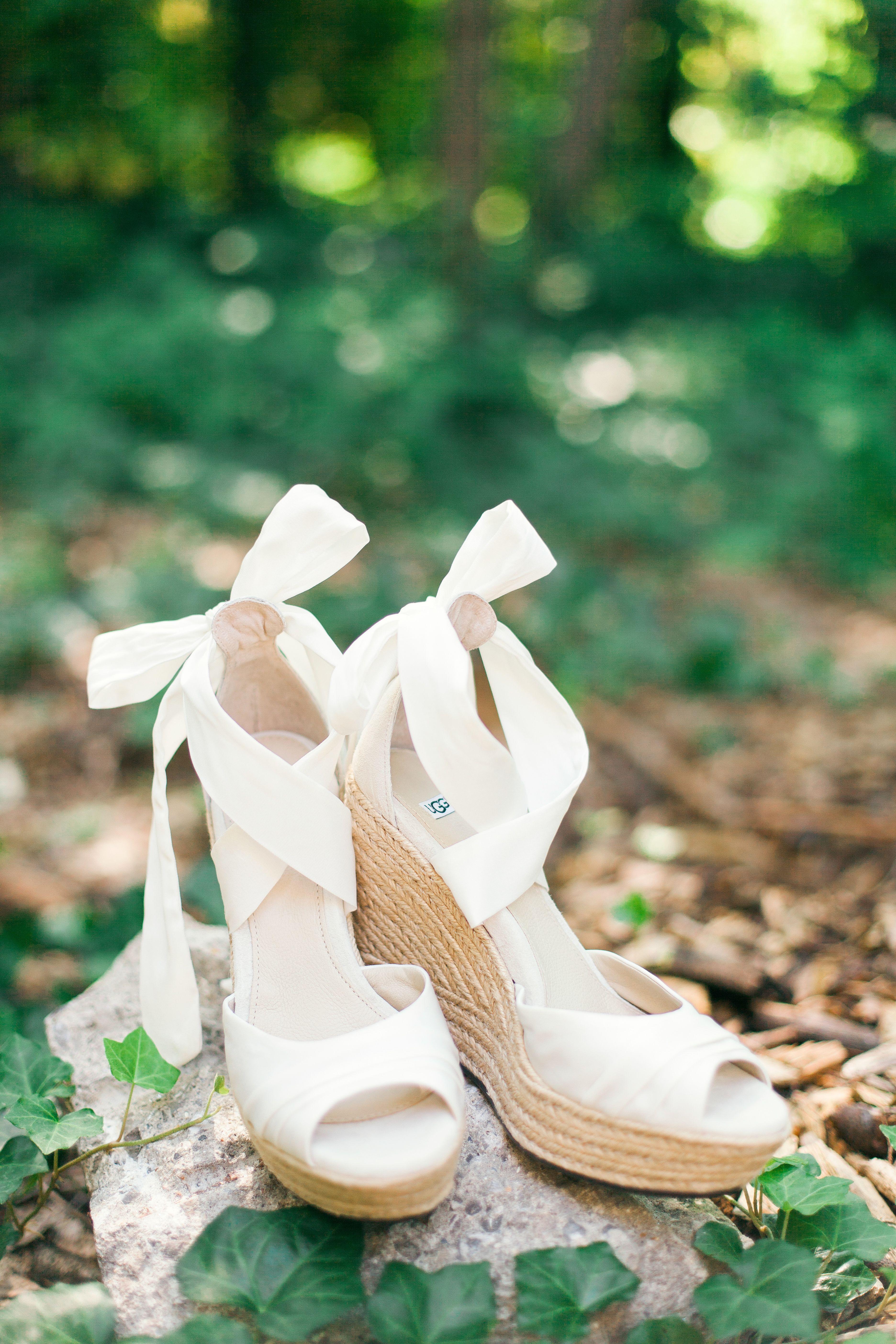 wedding peep toe shoes photo - 1