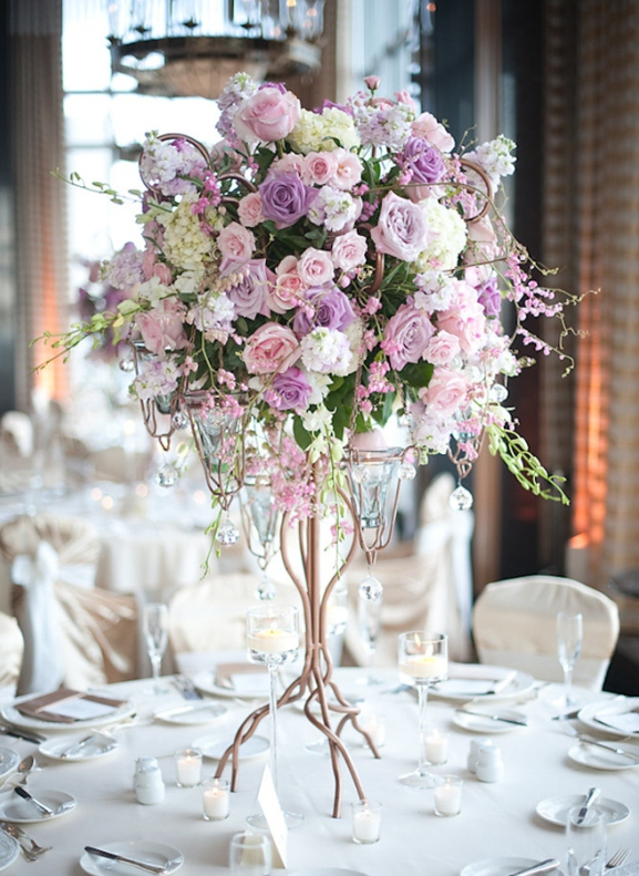 wedding reception flowers centerpieces photo - 1