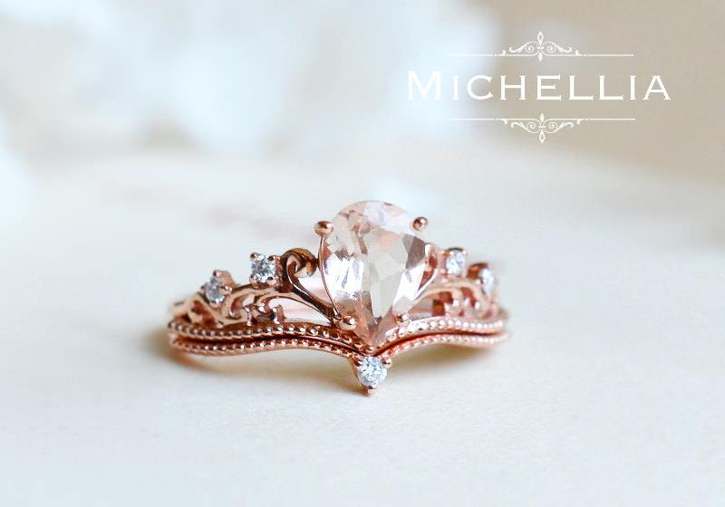 wedding rings flowers photo - 1