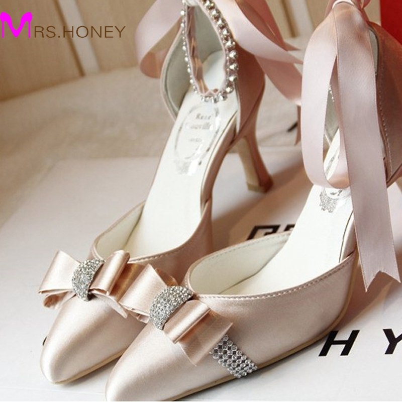 wedding shoes champagne color photo - 1