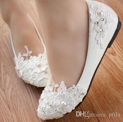 wedding shoes flats ivory photo - 1