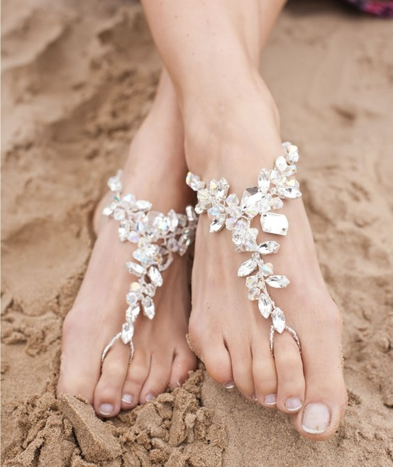 wedding shoes for beach wedding photo - 1