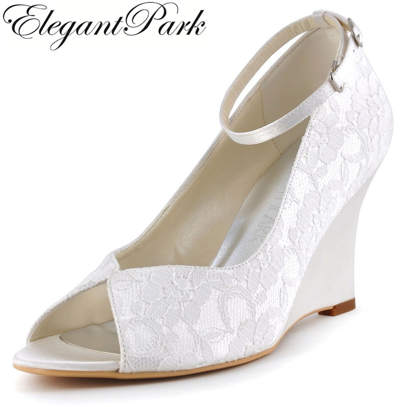 wedding shoes for bride wedge photo - 1