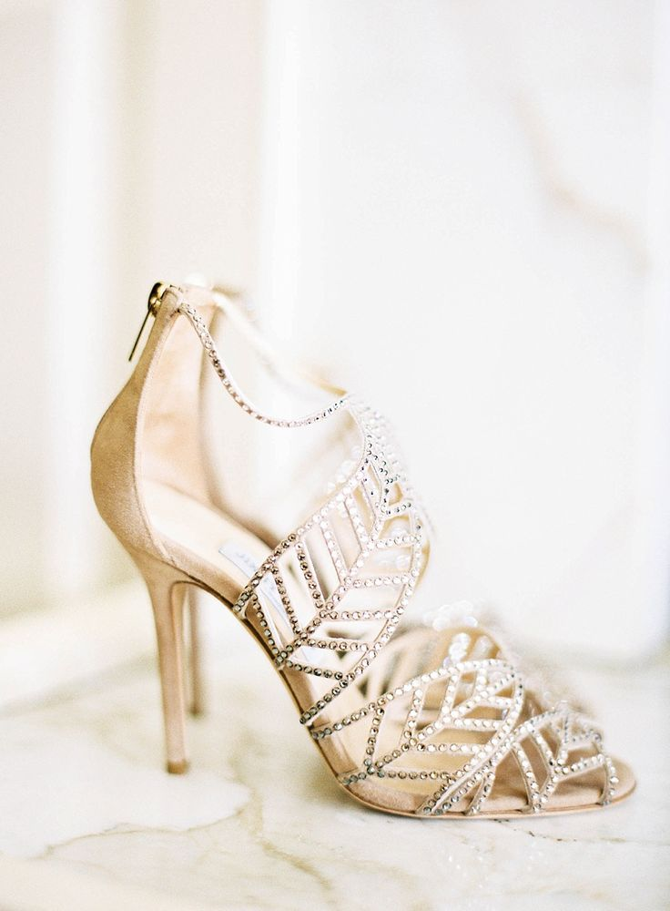 wedding shoes gold photo - 1