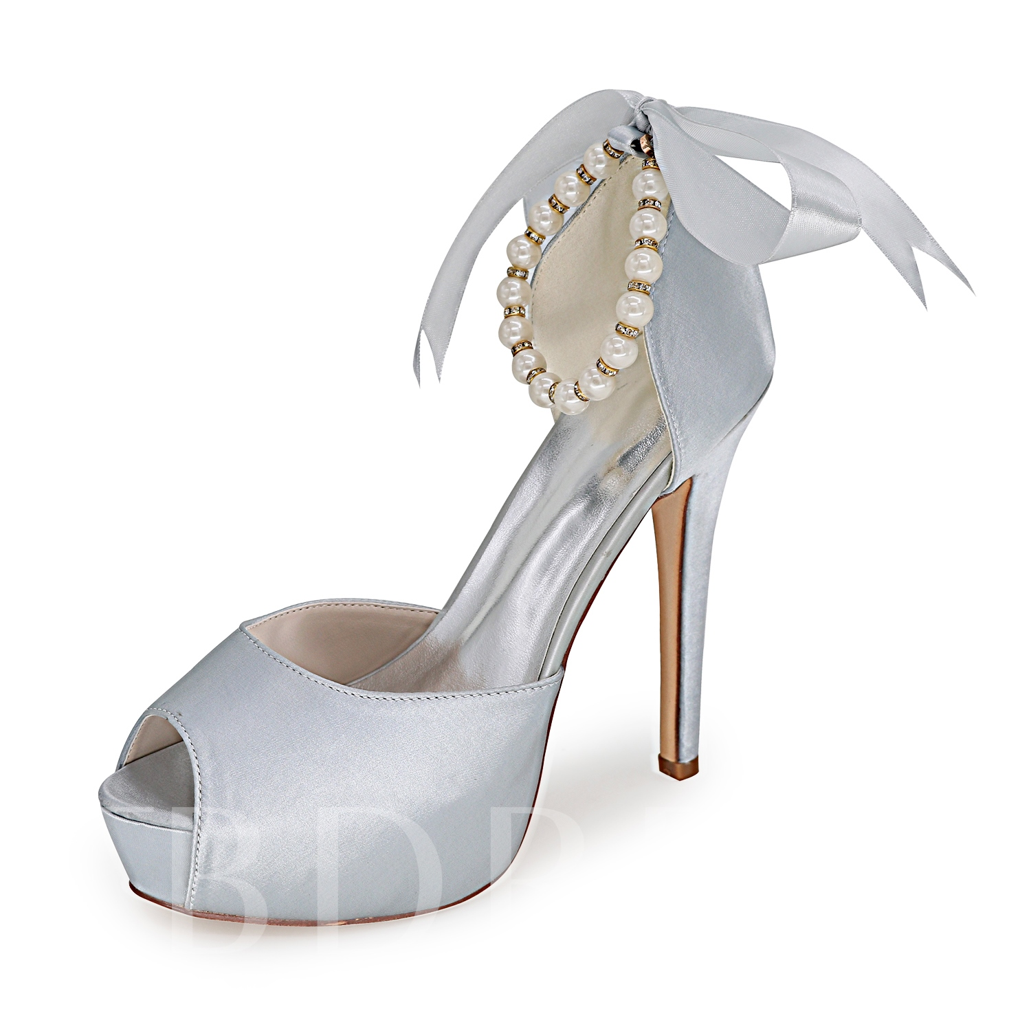 wedding shoes pearls photo - 1