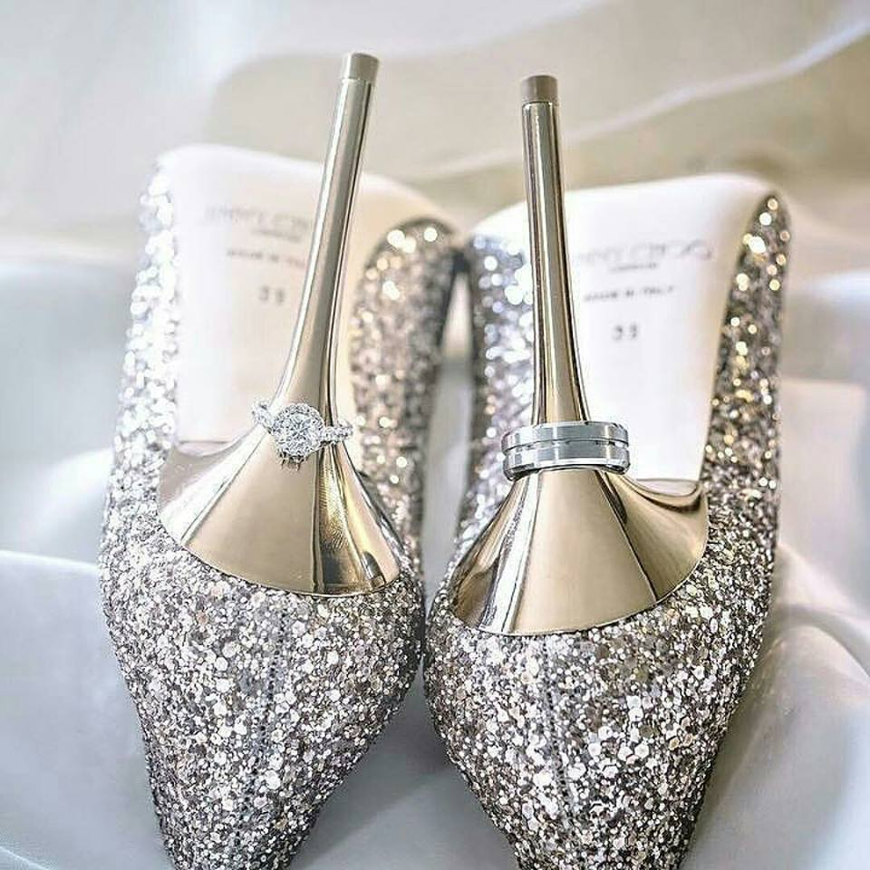 wedding shoes silver photo - 1