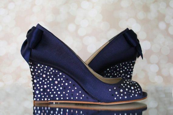wedding shoes wedge heel photo - 1