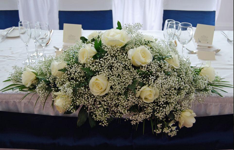wedding table flowers arrangements photo - 1