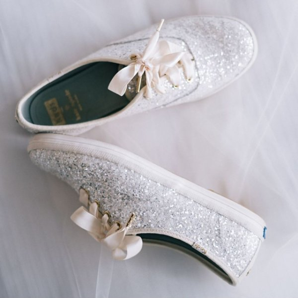 wedding tennis shoes bridal photo - 1