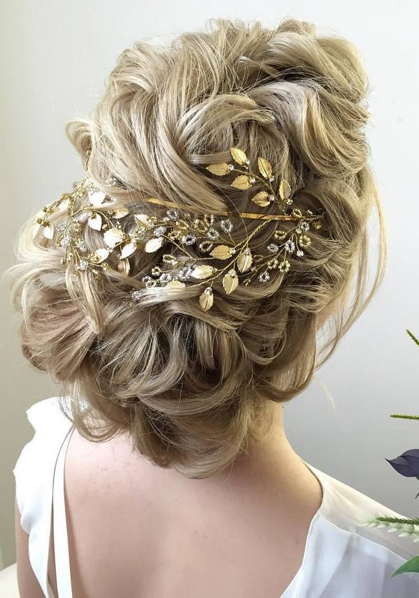 wedding updos with flowers photo - 1