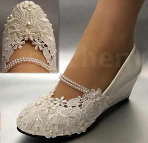 wedding wedge shoes photo - 1