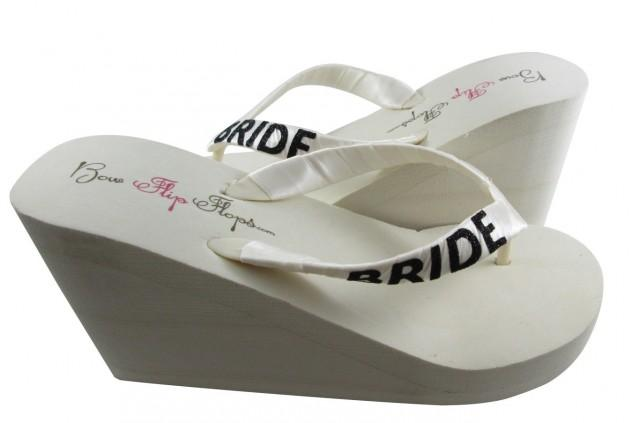 wedding wedge shoes ivory photo - 1