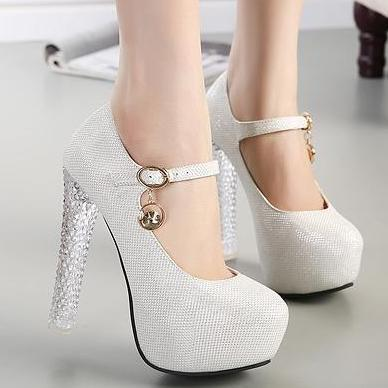 wedding wedges shoes for bride photo - 1