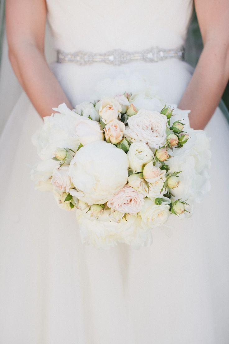 wedding white rose bouquets photo - 1