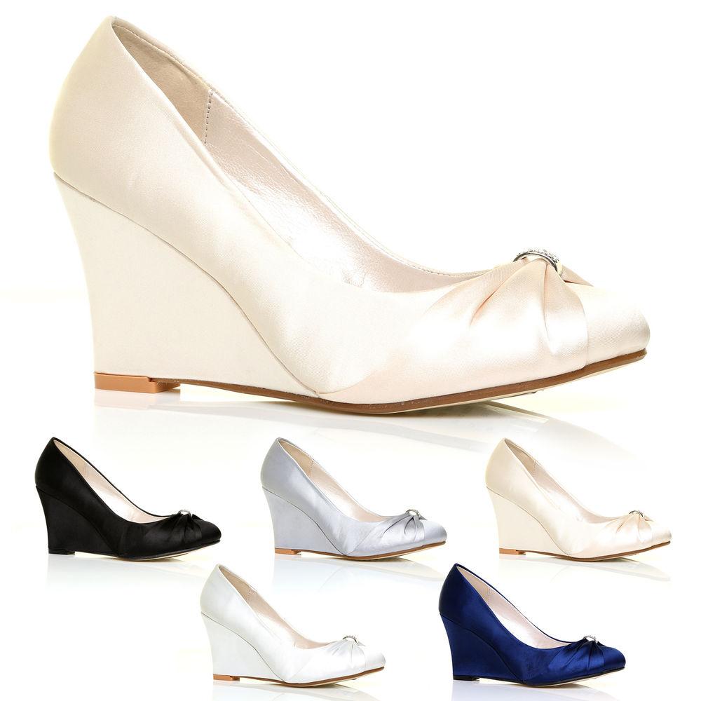 wedge bridal shoes photo - 1