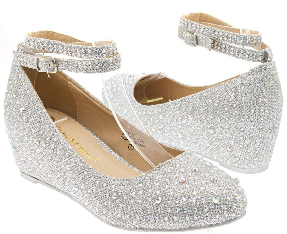 wedge heel bridal shoes photo - 1