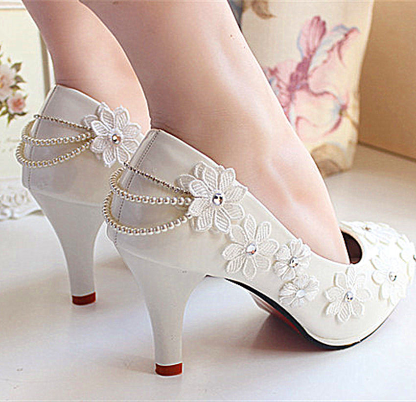wedge heels wedding shoes photo - 1