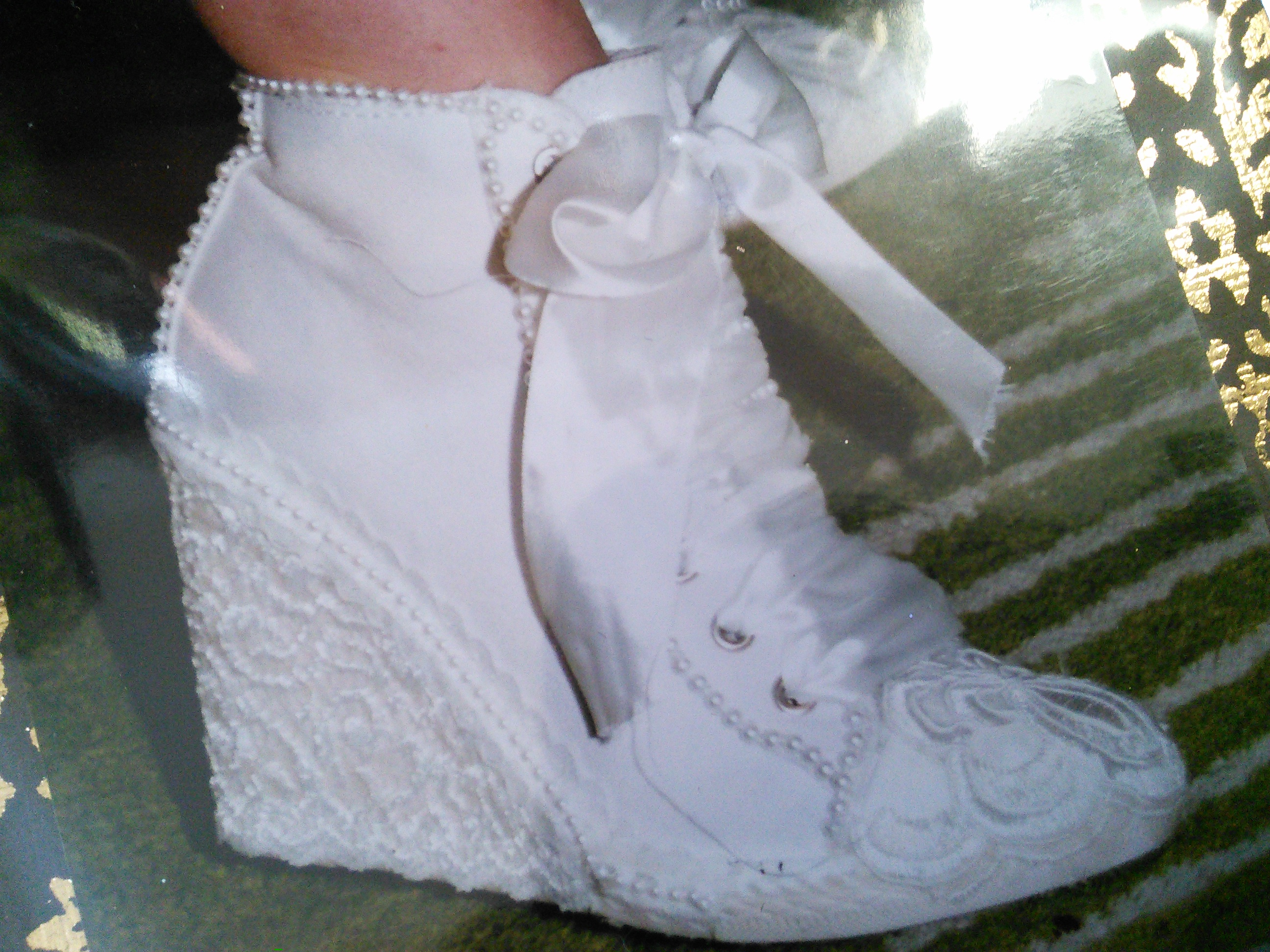 wedge shoes wedding photo - 1
