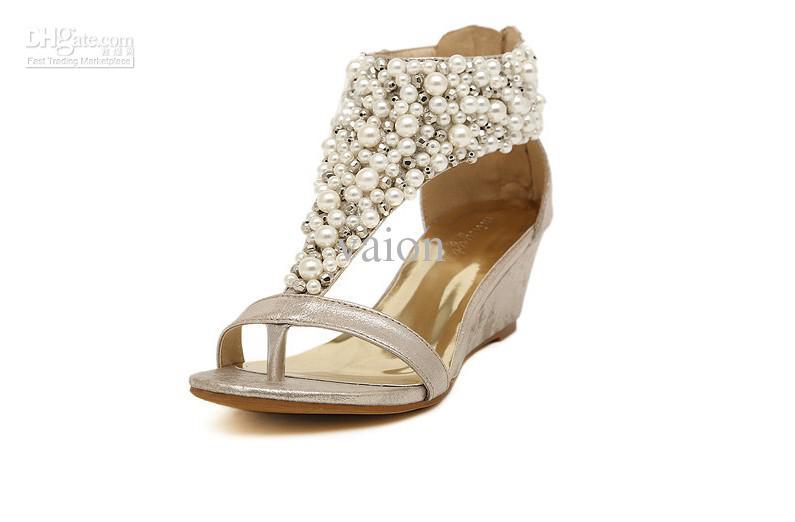 wedges wedding shoes photo - 1
