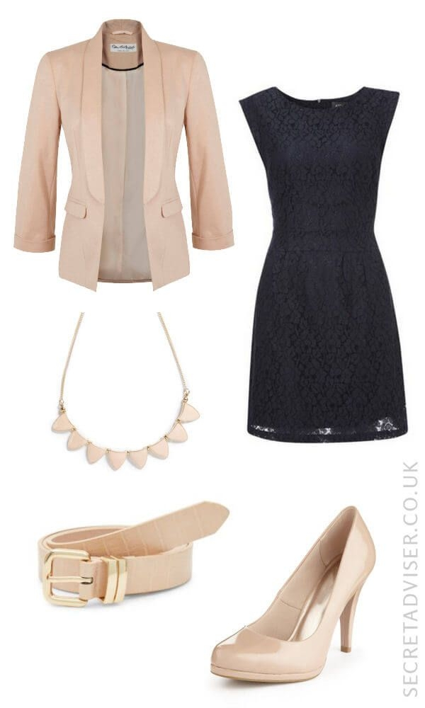 what color shoes to wear with navy blue dress to wedding photo - 1