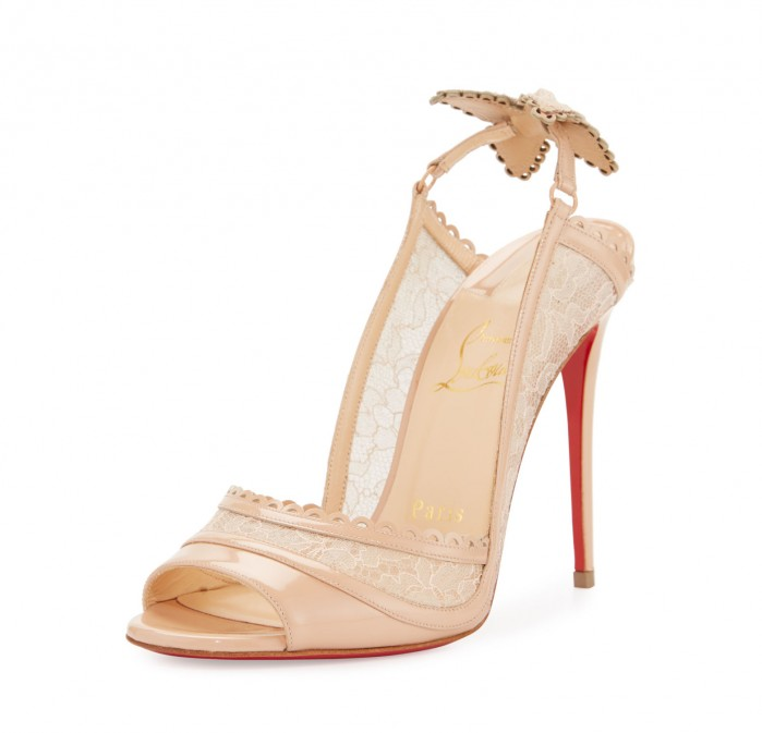 new product 172da a7b29 White christian louboutin wedding shoes - Florida-Photo ...