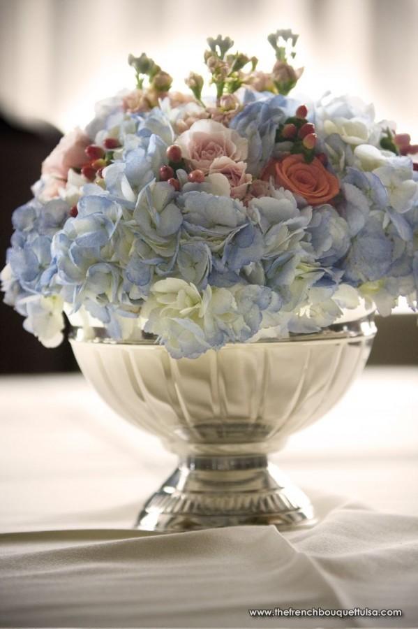 white hydrangea wedding bouquet photo - 1