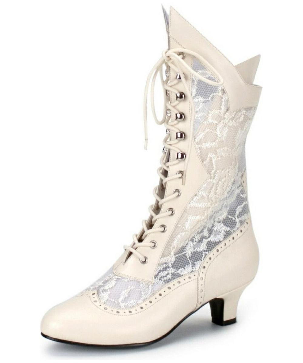 white ivory wedding shoes photo - 1