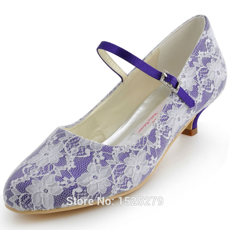 white lace bridal shoes photo - 1