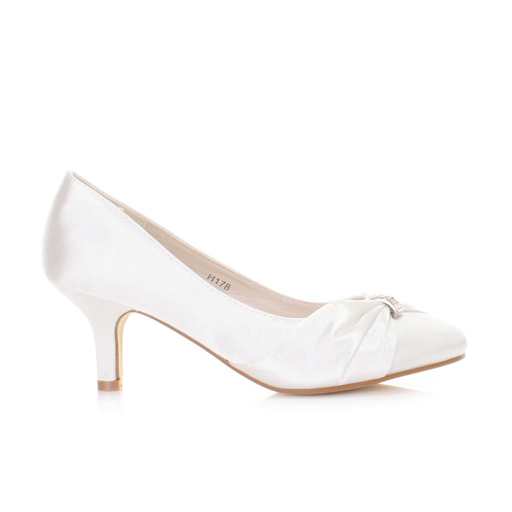 white satin wedding shoes photo - 1