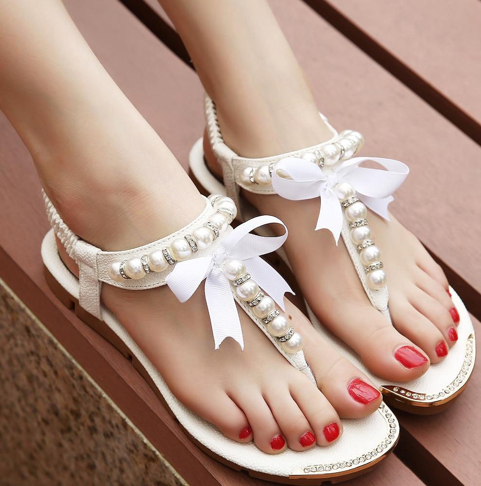 white wedding flat shoes photo - 1
