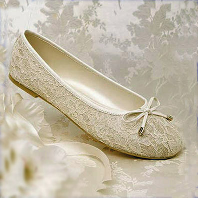 wide width bridal shoes ivory photo - 1