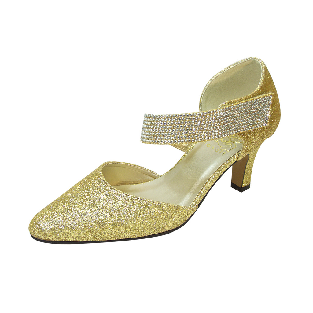 wide width wedding shoes rhinestones photo - 1