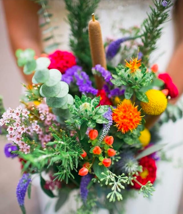 wildflower wedding flowers photo - 1