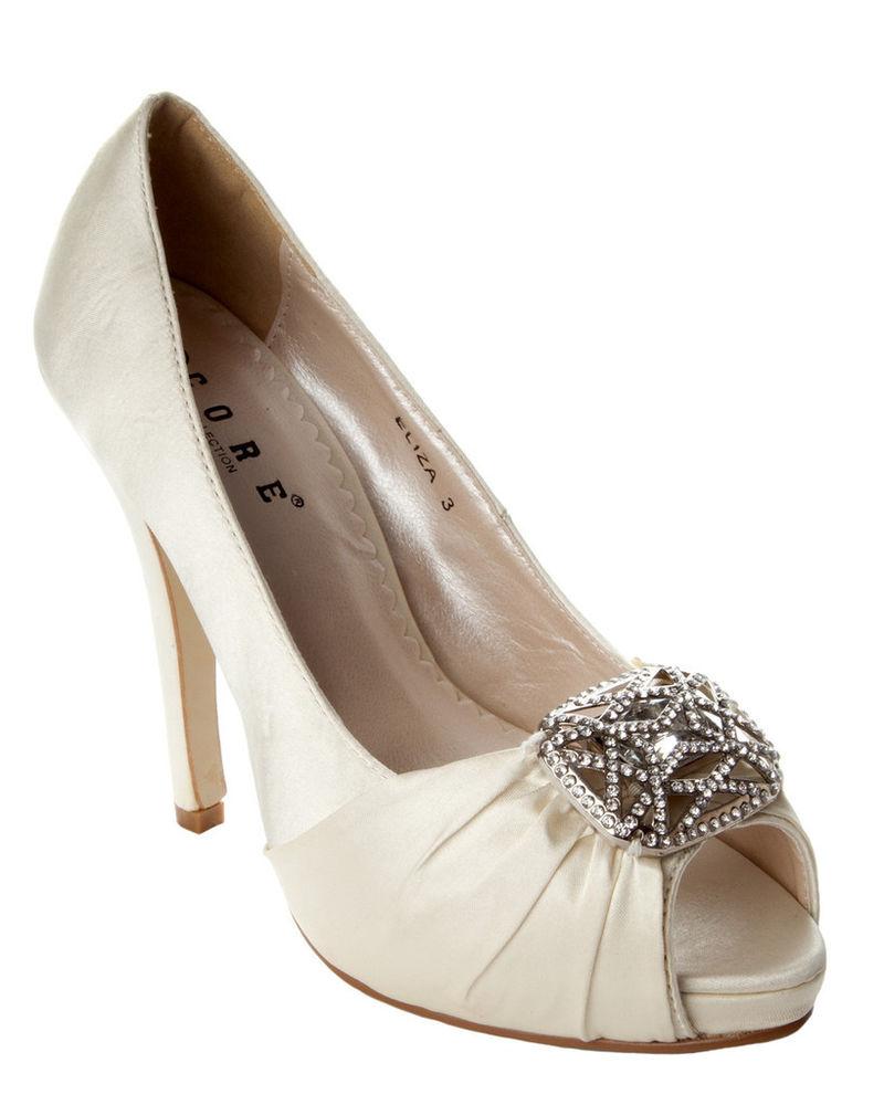 womens ivory wedding shoes photo - 1