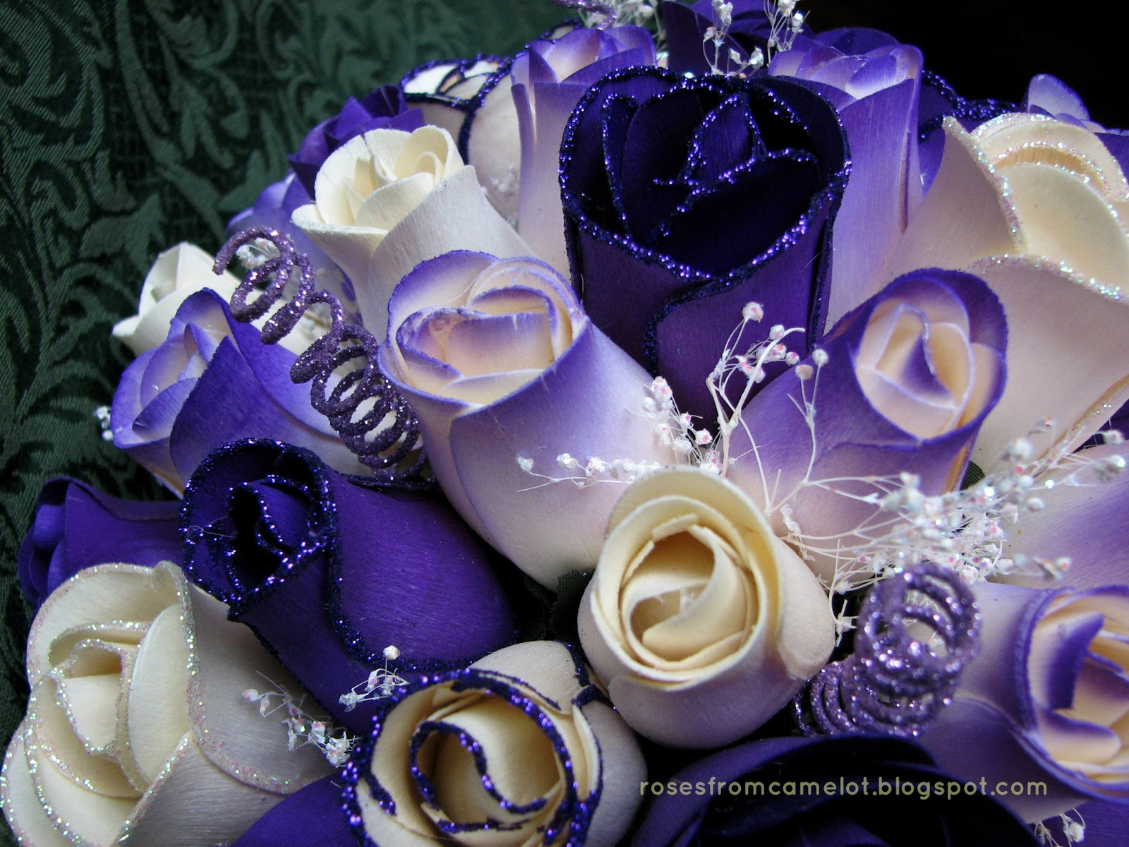 wooden flowers wedding bouquets photo - 1