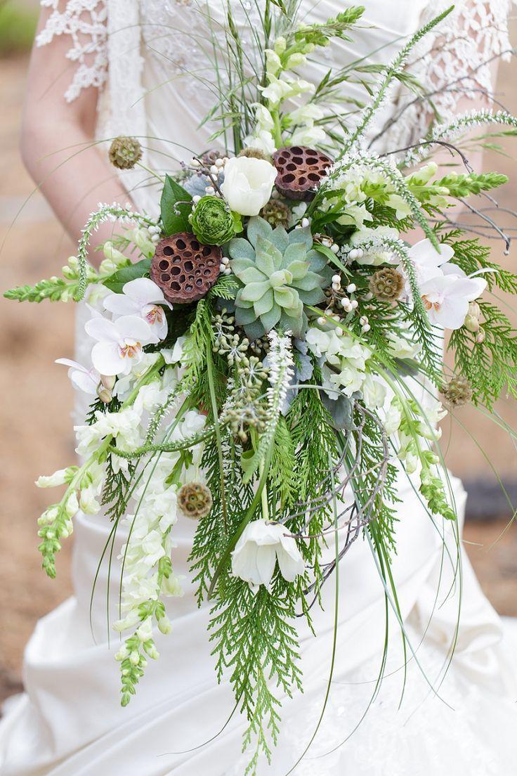 woodland wedding bouquets photo - 1