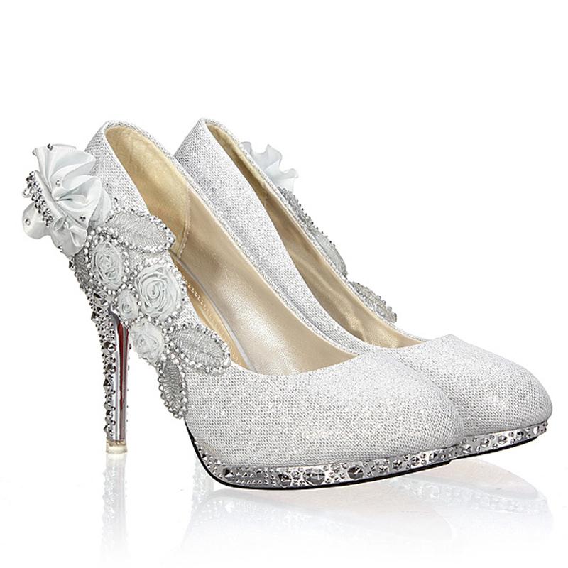 1 inch heel wedding shoes photo - 1
