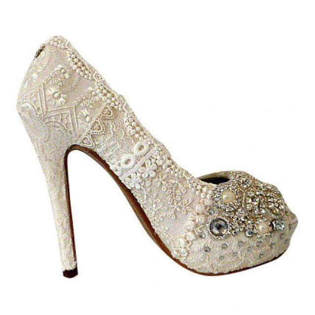 5 inch wedding shoes photo - 1
