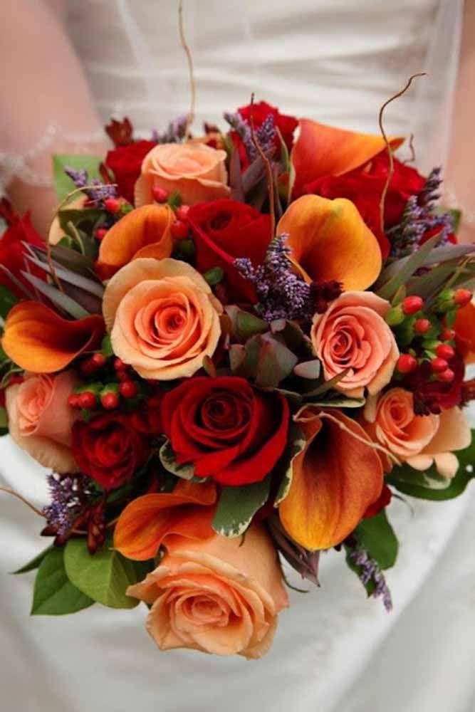 autumn bouquets wedding photo - 1