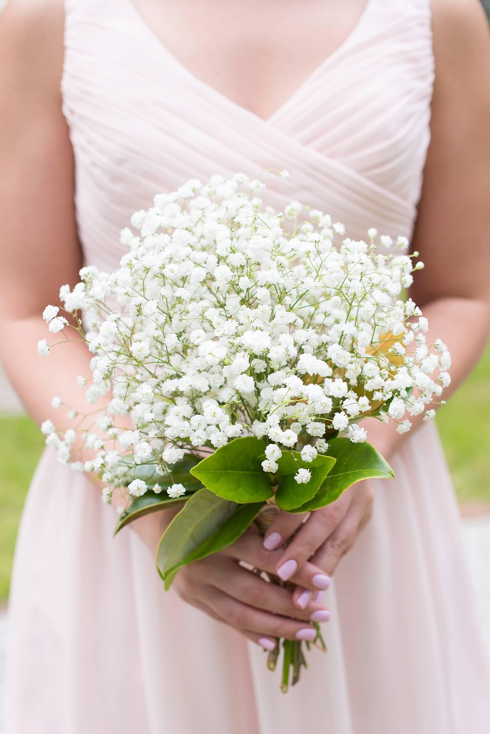 baby breath wedding bouquets photo - 1