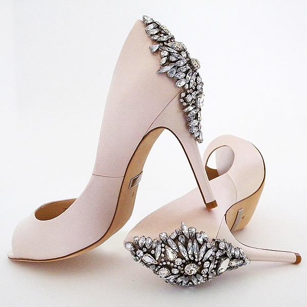 badgley mischka bridal shoes pink photo - 1