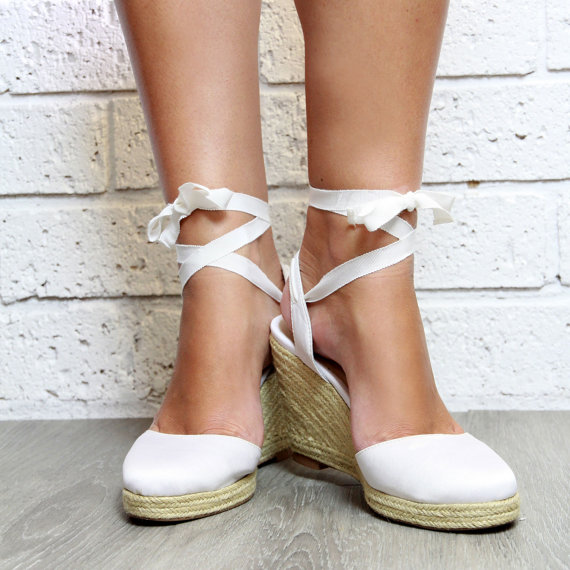 beach wedding shoes wedges photo - 1
