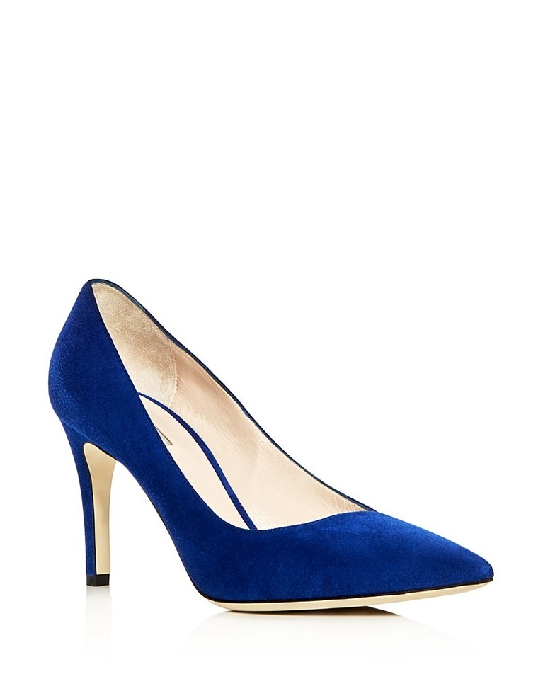 blue wedding shoes for bride photo - 1