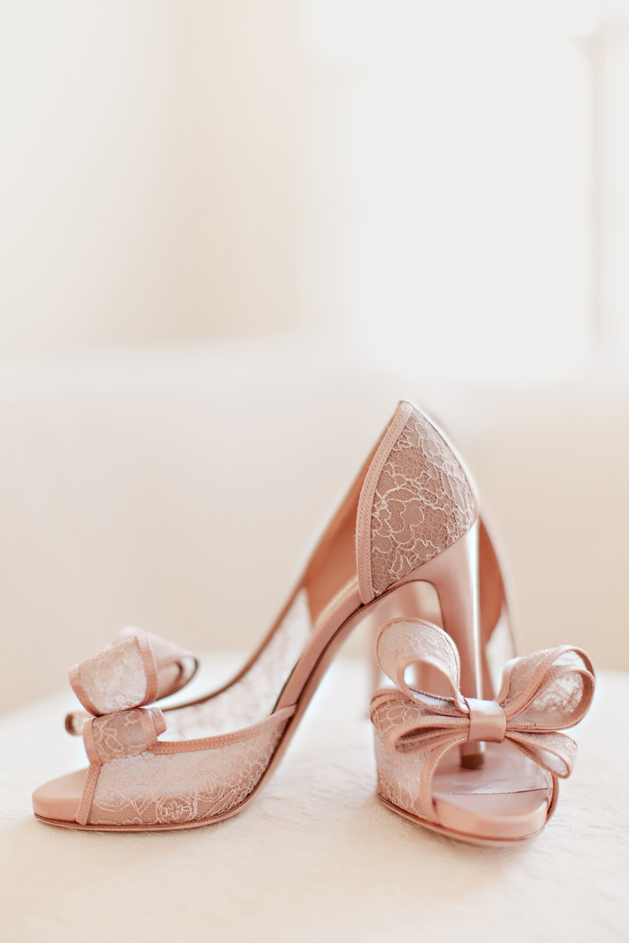 blush colored wedding shoes photo - 1