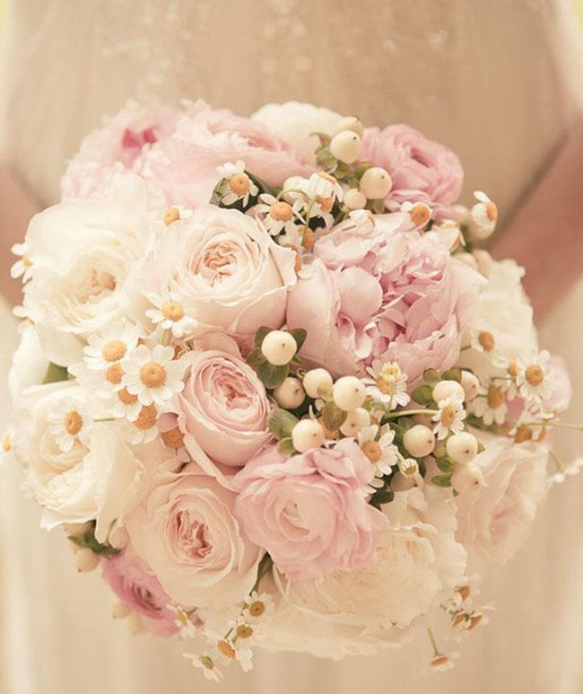 blush pink wedding bouquets photo - 1