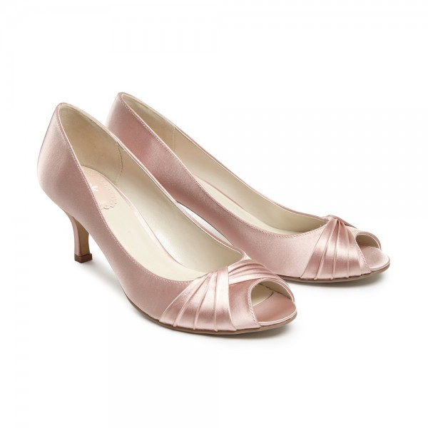 blush pink wedding shoes photo - 1